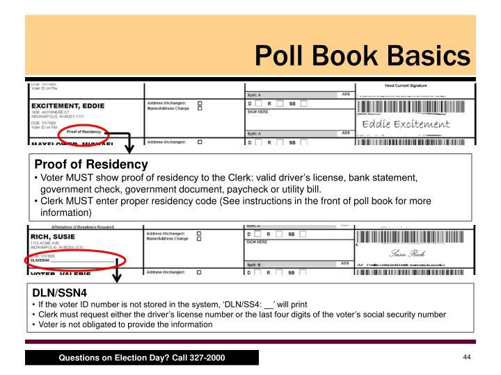 Poll Book Basics