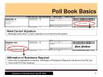 poll book basics5