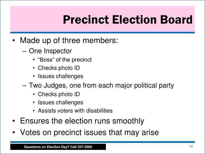 Precinct Election Board