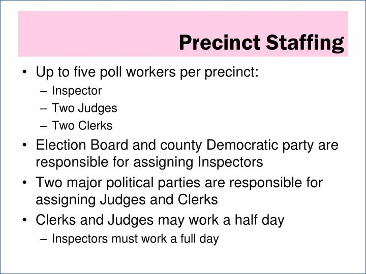 Precinct Staffing