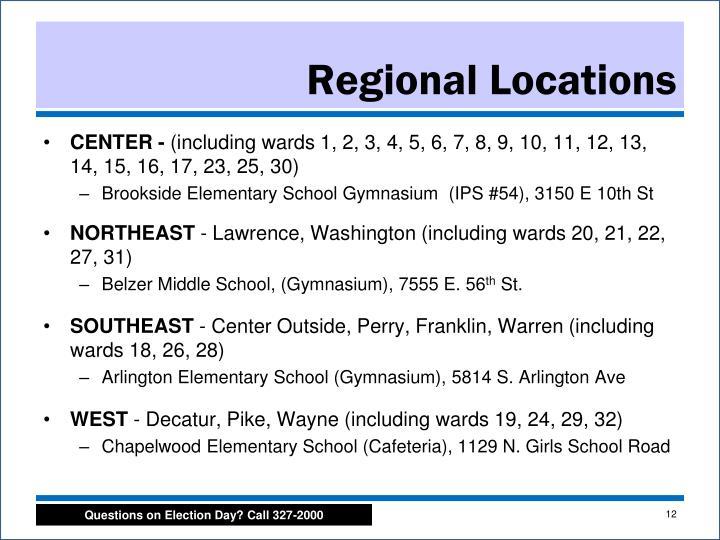 Regional Locations