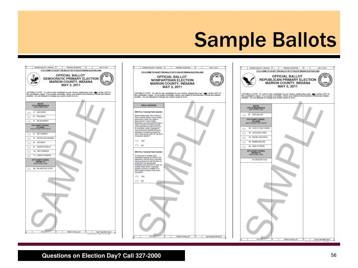 Sample Ballots