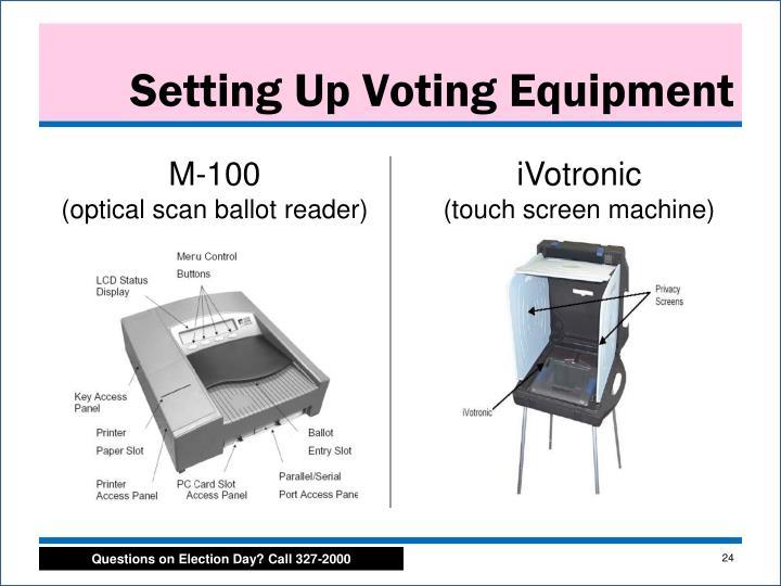 Setting Up Voting Equipment