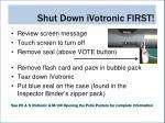 shut down ivotronic first1