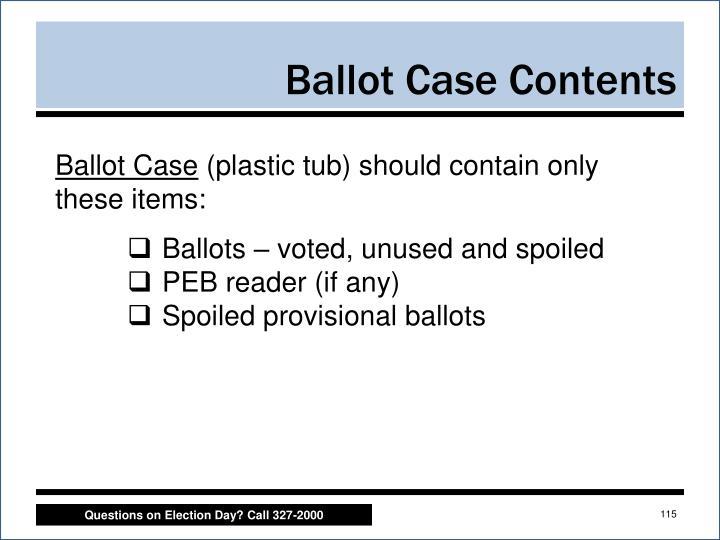 Ballot Case Contents