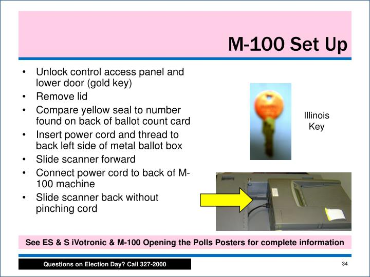 Unlock control access panel and lower door (gold key)