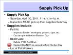 supply pick up