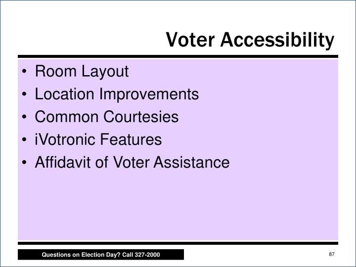 Voter Accessibility