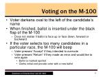 voting on the m 100