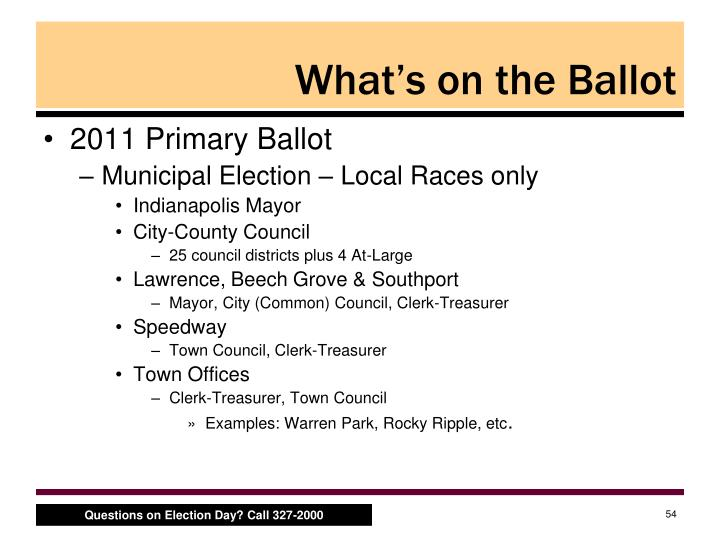 What's on the Ballot