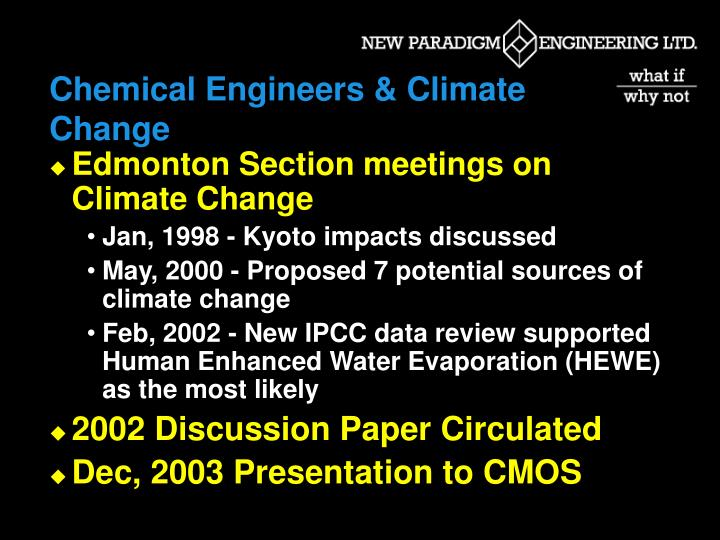 Chemical engineers climate change