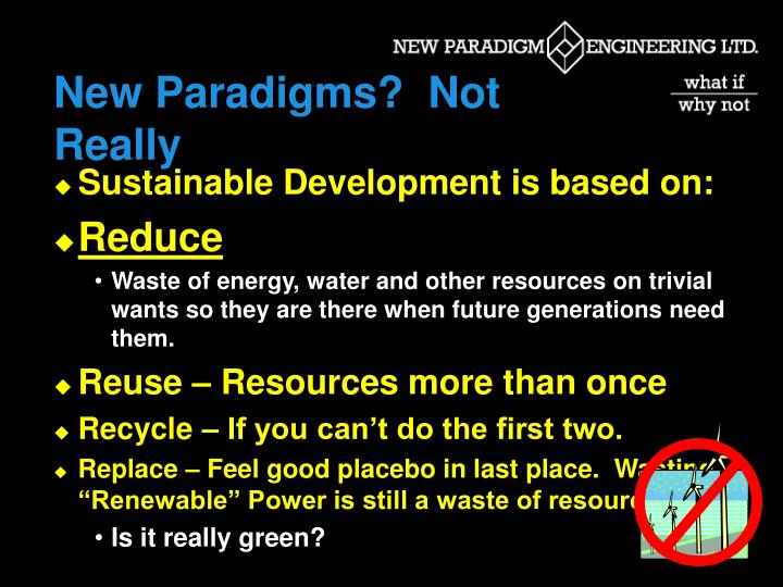 New Paradigms?  Not Really