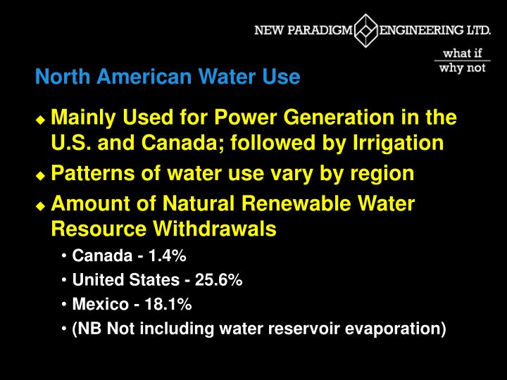 North American Water Use