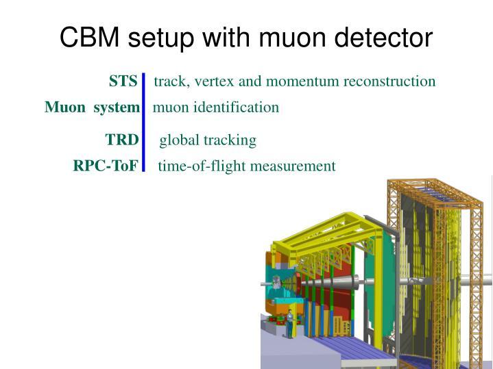CBM setup with muon detector