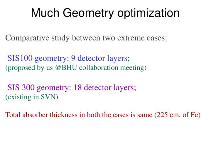 Much Geometry optimization