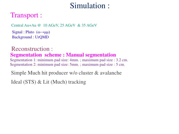 Simulation :