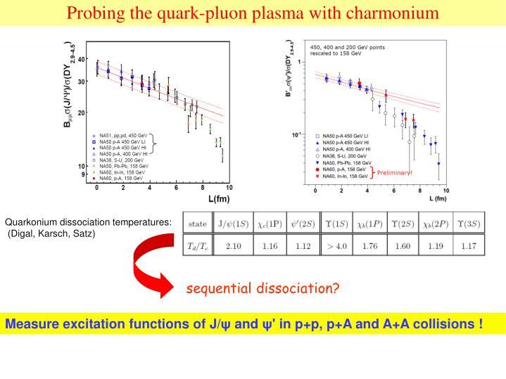 Probing the quark-pluon plasma with charmonium