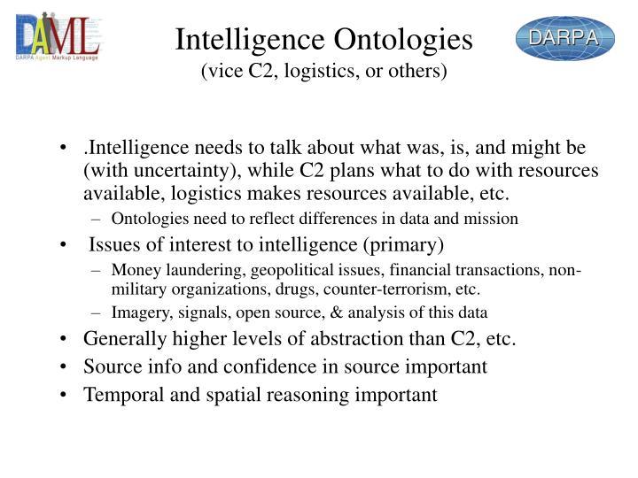 Intelligence Ontologies