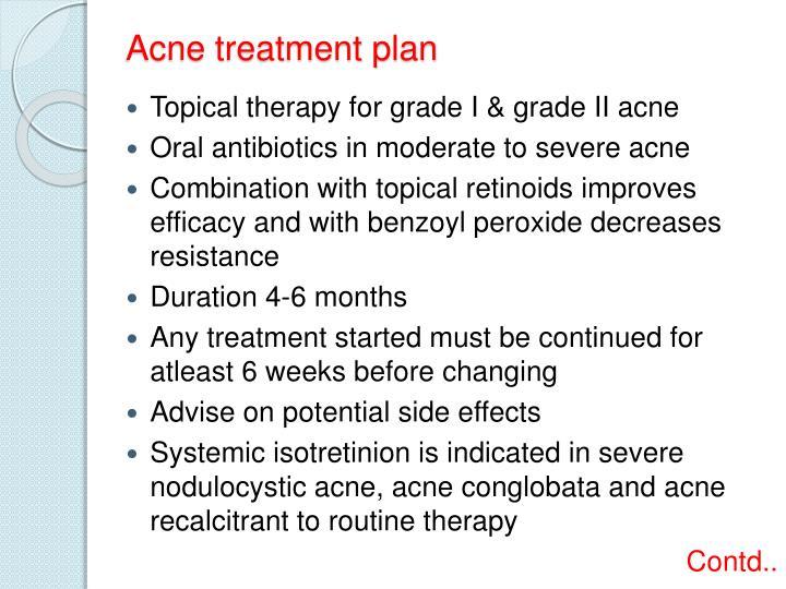 Acne treatment plan