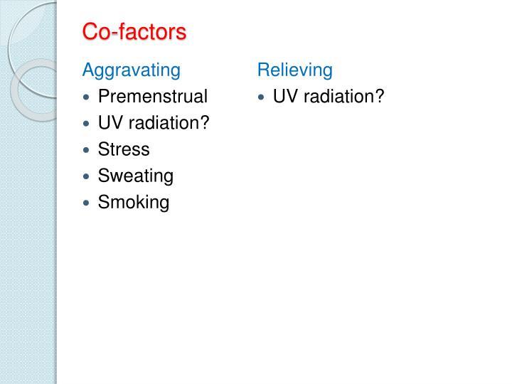 Co-factors