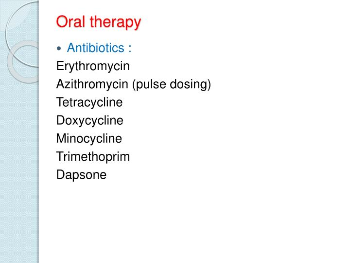 Oral therapy