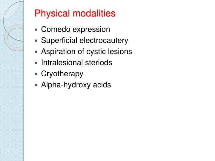 Physical modalities