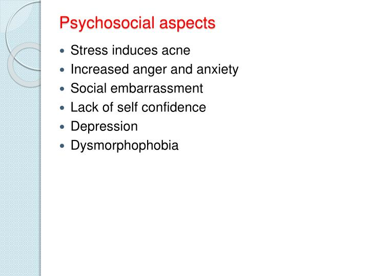 Psychosocial aspects