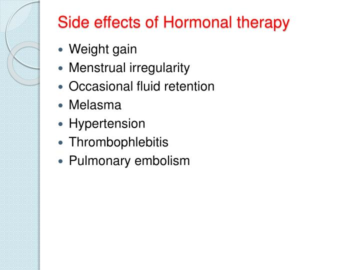 Side effects of Hormonal therapy