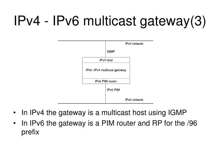 IPv4 - IPv6 multicast gateway(3)