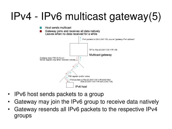 IPv4 - IPv6 multicast gateway(5)