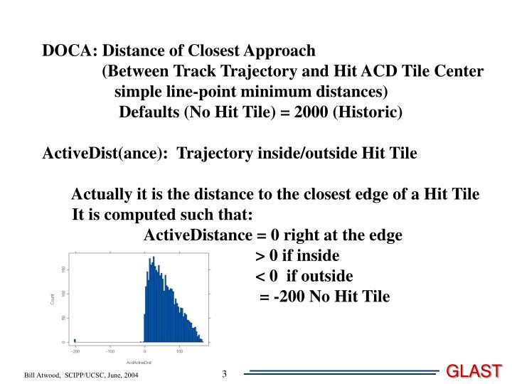DOCA: Distance of Closest Approach