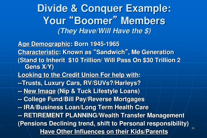Divide & Conquer Example: