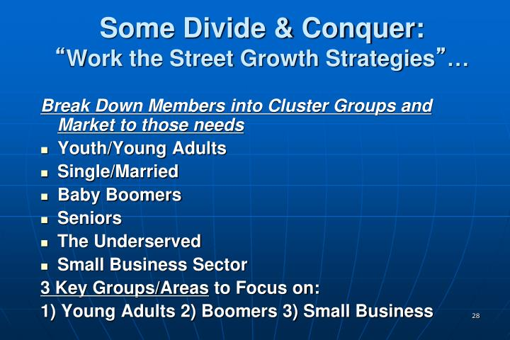Some Divide & Conquer: