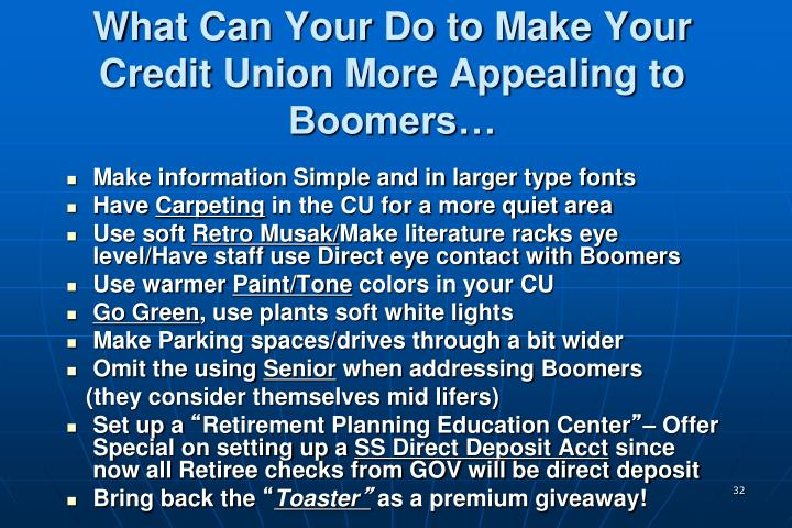 What Can Your Do to Make Your Credit Union More Appealing to Boomers…