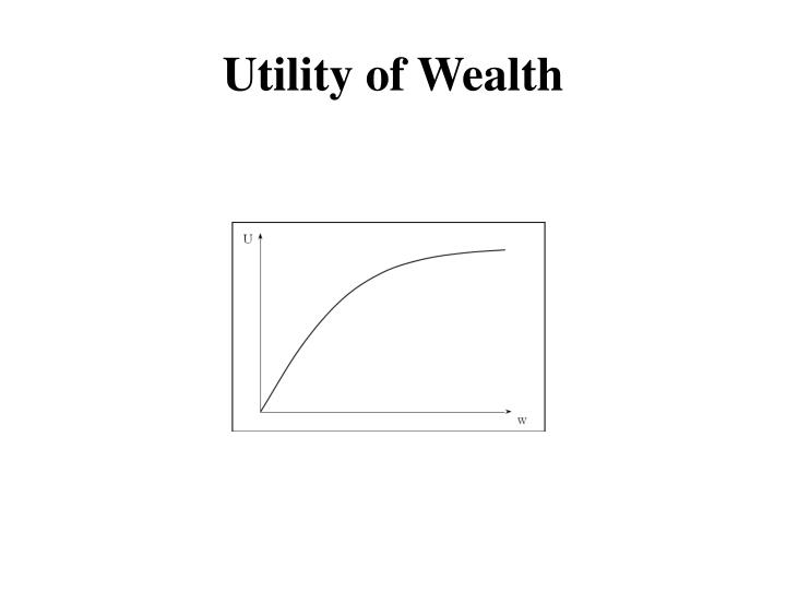 Utility of Wealth
