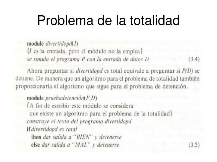 Problema de la totalidad