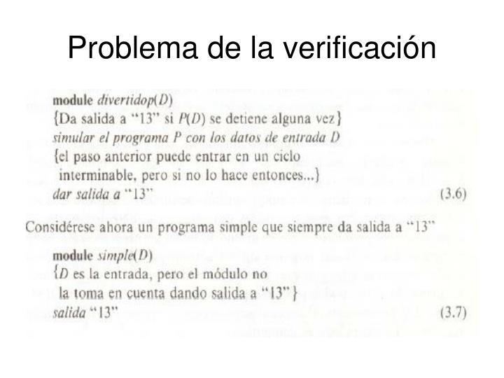 Problema de la verificación