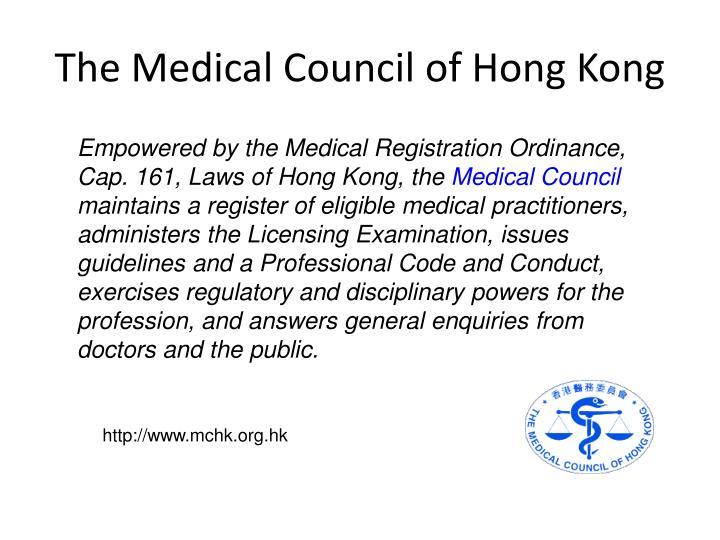 The Medical Council of Hong Kong