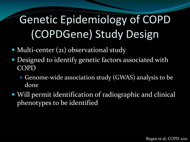 Genetic Epidemiology of COPD (COPDGene) Study Design
