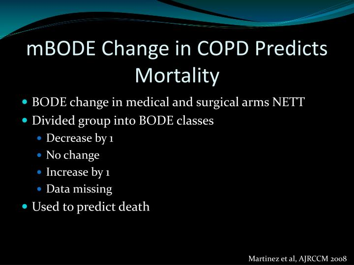 mBODE Change in COPD Predicts Mortality