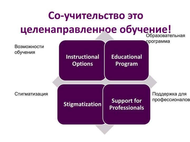 Со-учительство это целенаправленное обучение!