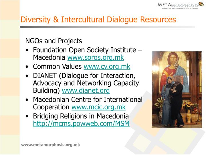 Diversity & Intercultural Dialogue Resources