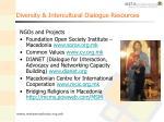 diversity intercultural dialogue resources