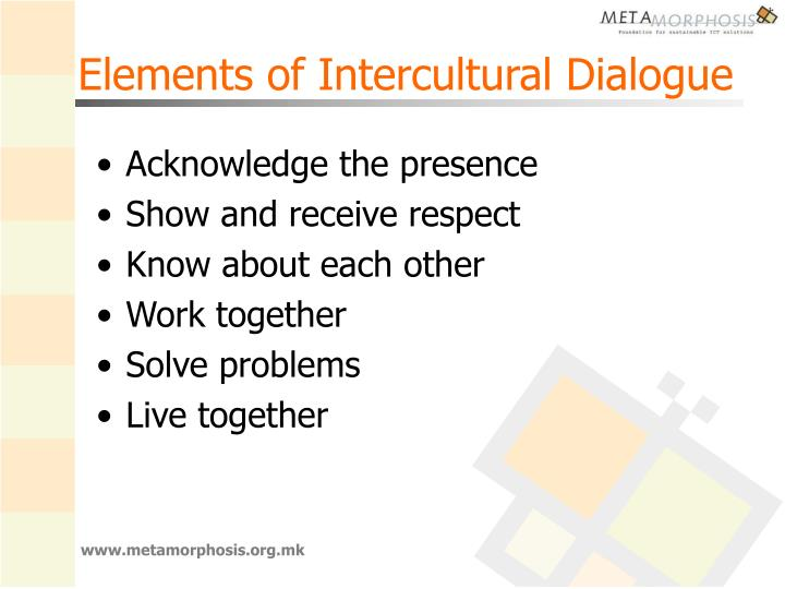 Elements of Intercultural Dialogue