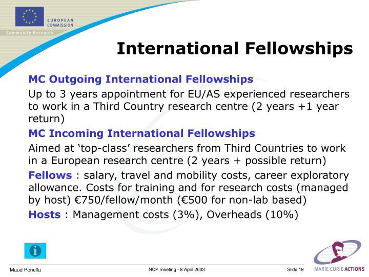 International Fellowships