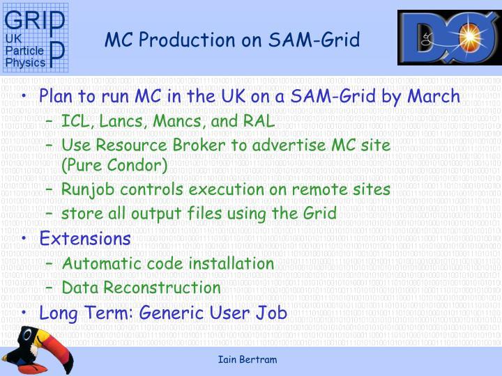 MC Production on SAM-Grid