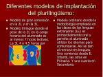 diferentes modelos de implantaci n del pluriling ismo