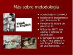 m s sobre metodolog a