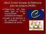 marco com n europeo de referencia para las lenguas mcer