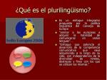 qu es el pluriling ismo